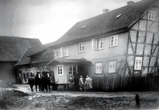 , he_0025, Bauernhof Schormann 1930, Im Anger, um 1930