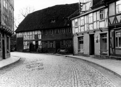 , he_0079, Lange Straße, alte Schmiede, um 1935